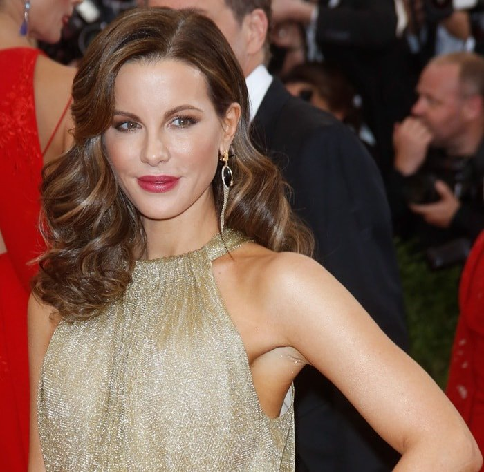 Kate Beckinsale at the 2015 Met Gala held at the Metropolitan Museum of Art in New York City on May 4, 2015