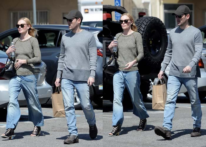 Kate Bosworth rocked denim culottes while out with her husband