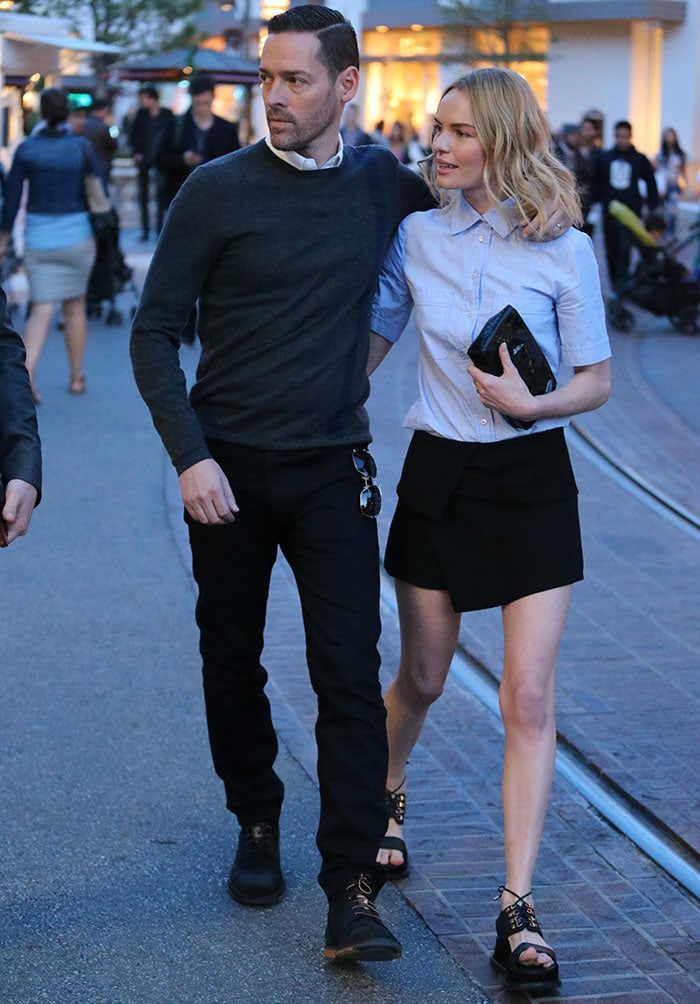 Michael Polish and Kate Bosworth at The Grove after launching herfestival-inspired shoecollection for Matisse Footwear