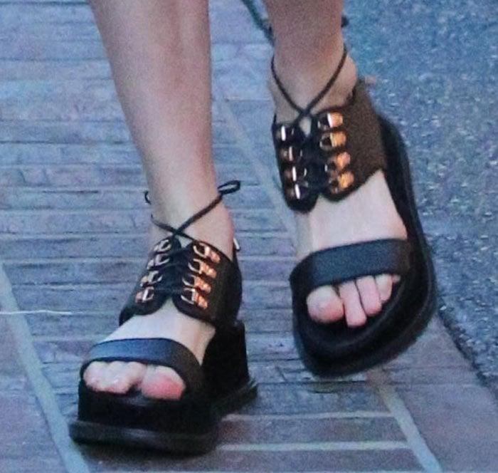 Kate Bosworth wearing her shoe design for Matisse Footwear