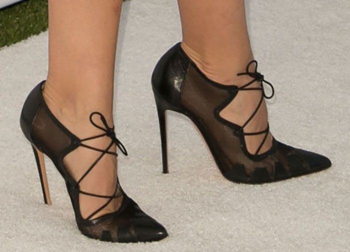 Katharine McPhee shows off her perfect feet in Bionda Castana pumps