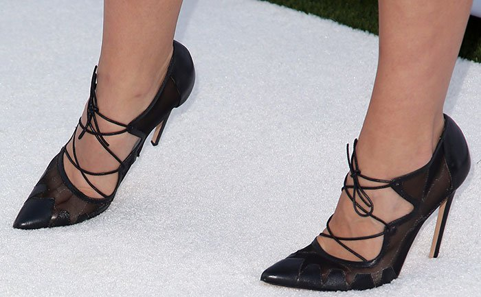 Katharine McPhee with her sexy toes on display