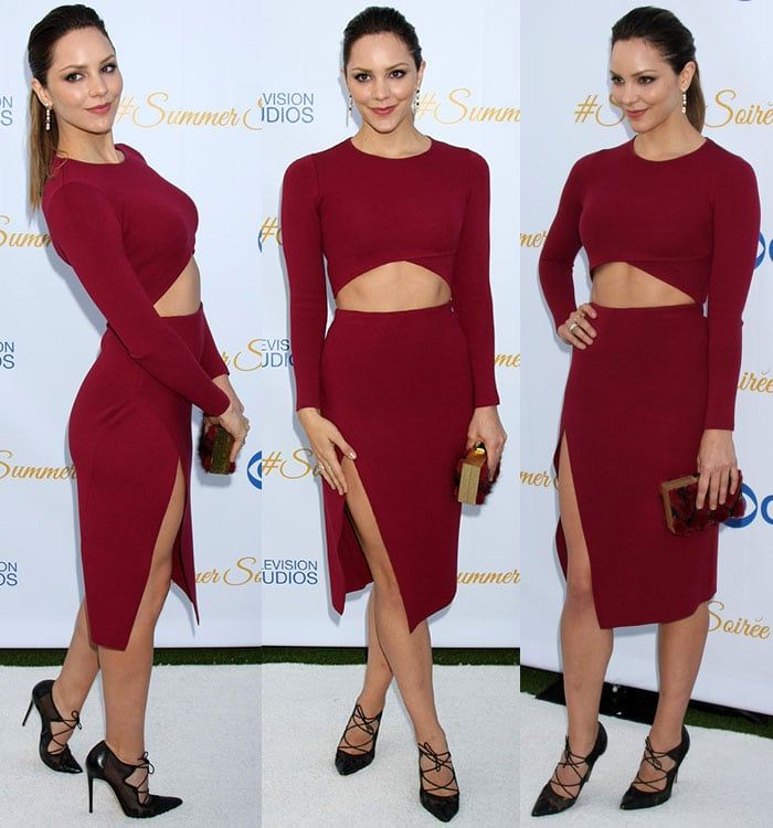 Katharine McPhee at the Third Annual CBS Television Studios Rooftop Summer Soiree held at The London Hotel in Los Angeles on May 18, 2015