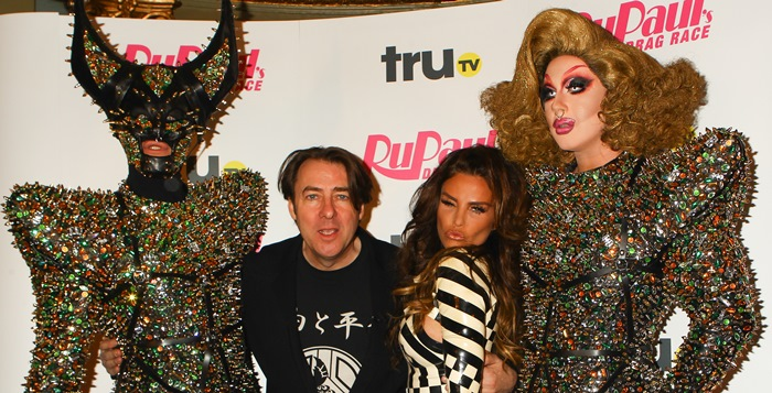 Katie Price and Jonathan Ross at the launch of RuPaul's Drag Race