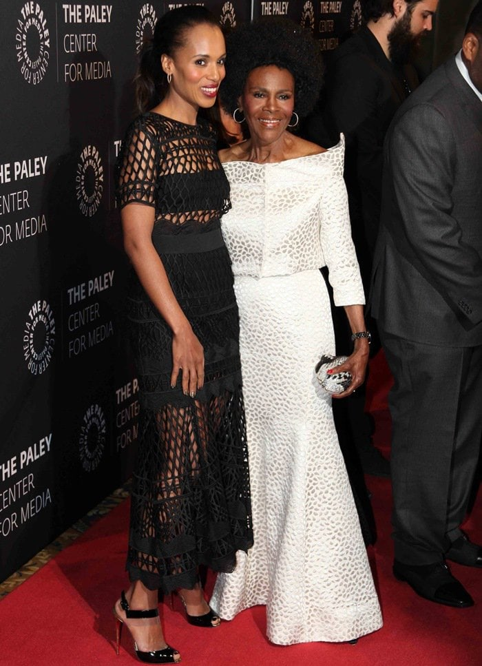 Kerry Washington and Cicely Tyson the Paley Center for Media's Tribute to African-American Achievements in Television at Cipriani Wall Street in New York City on May 13, 2015