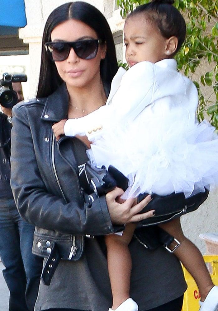 Kim Kardashian Tom Ford North 1