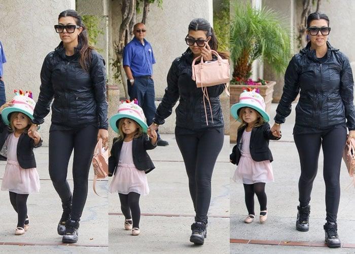 Kourtney Kardashian took a break from wearing high heels