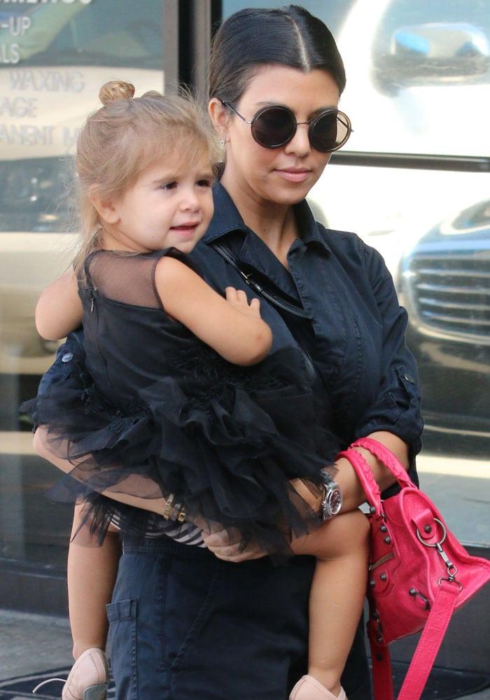Kourtney Kardashian takes her daughter Penelope to a ballet class