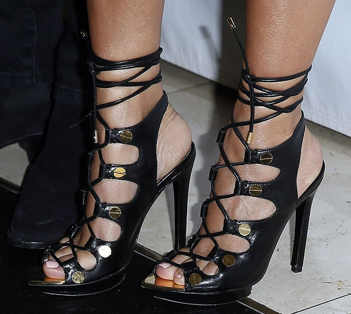 Kourtney Kardashian in Tom Ford sandals