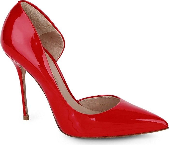 Kurt Geiger Red Anja Patent Leather Courts