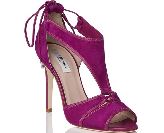 Giselle Suede Strappy Sandals in Purple