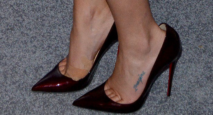 Lea Michele tortured her feet in Christian Louboutin shoes