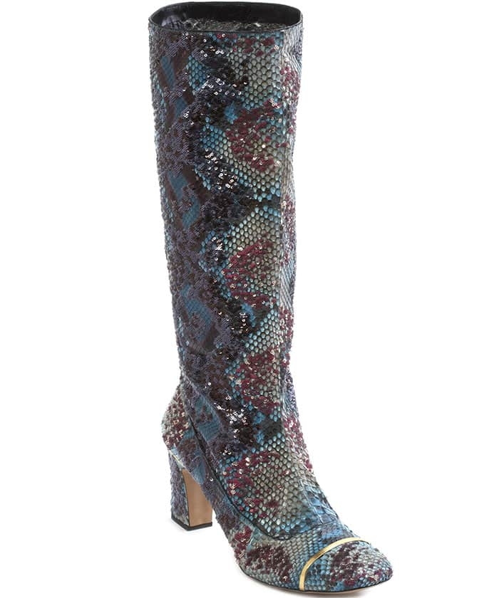 Marc Jacobs Python Slouchy Boots