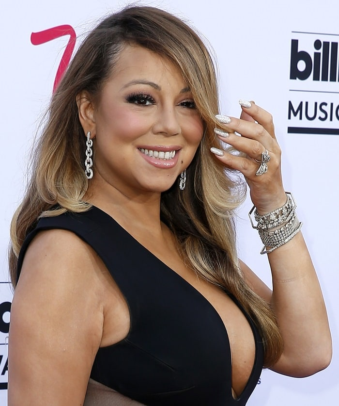 Mariah Carey on the red carpet at the 2015 Billboard Music Awards held at the MGM Grand Garden Arena in Las Vegas on May 17, 2015