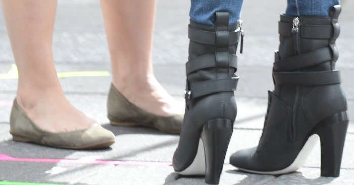 Megan Fox rocks leather ankle boots by Fendi