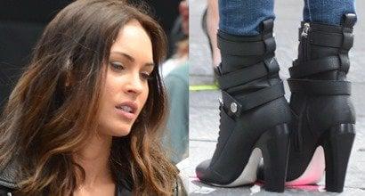 920bcaa7552 Megan Fox Films Teenage Mutant Ninja Turtles in Awful Fendi Diana Boots