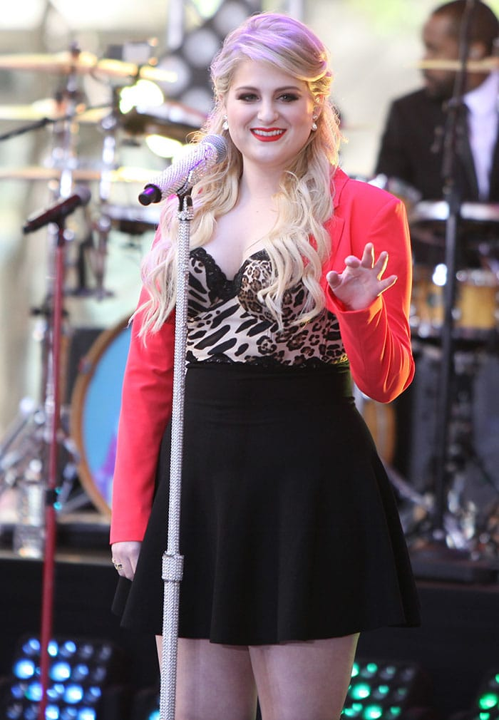 Meghan Trainor performing live on The Today Show's Toyota Concert Series in New York City on May 22, 2015