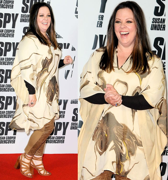 """Melissa McCarthy looking slimmer at the photocall for """"Spy"""" held at Hotel de Rome in Mitte in Berlin"""