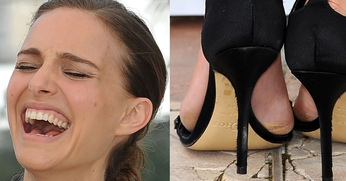 Natalie Portman Flashes Bum In Cheeky See Through Frock