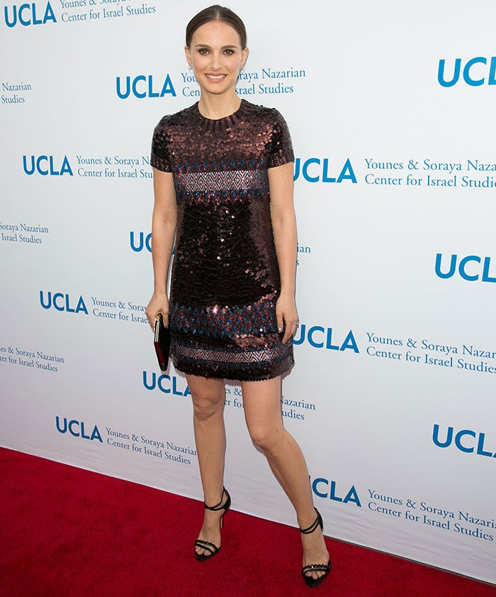 Natalie Portman presenting the UCLA Israel Studies Award at UCLA Younes & Soraya Nazarian Center for Israel Studies Gala