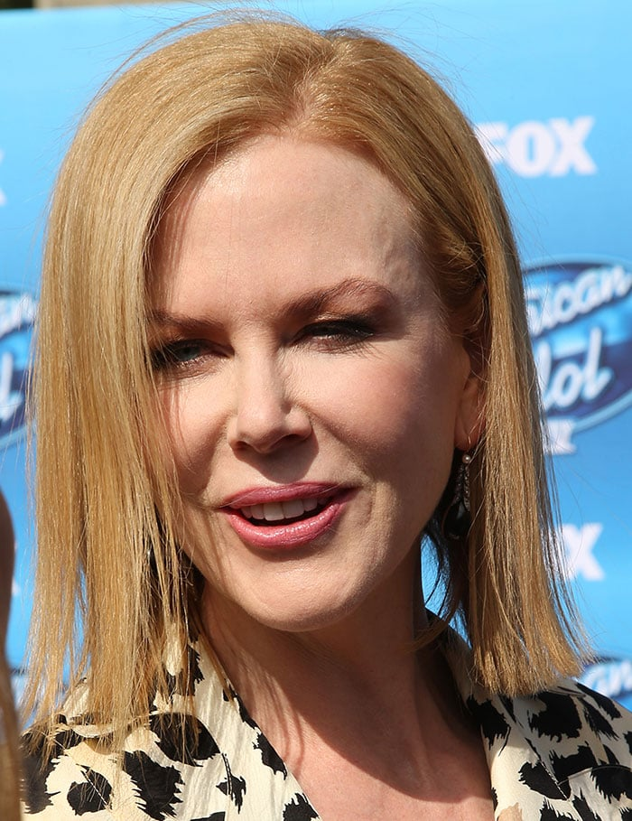 Nicole Kidman's strawberry blonde hair
