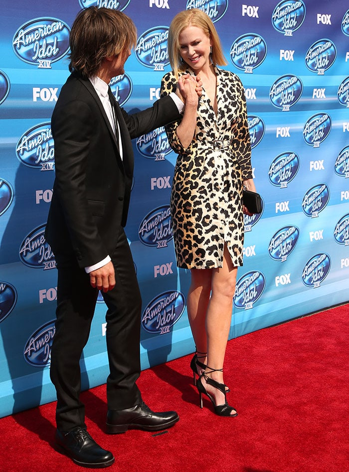 Nicole Kidman and Keith Urban at the 2015 American Idol XIV Grand Finale