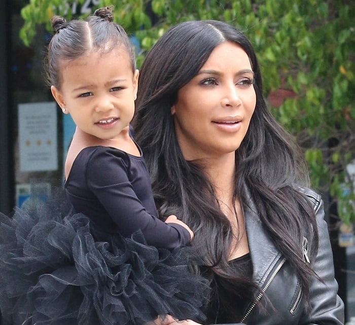 Kim Kardashian takes her daughter North West to dance class