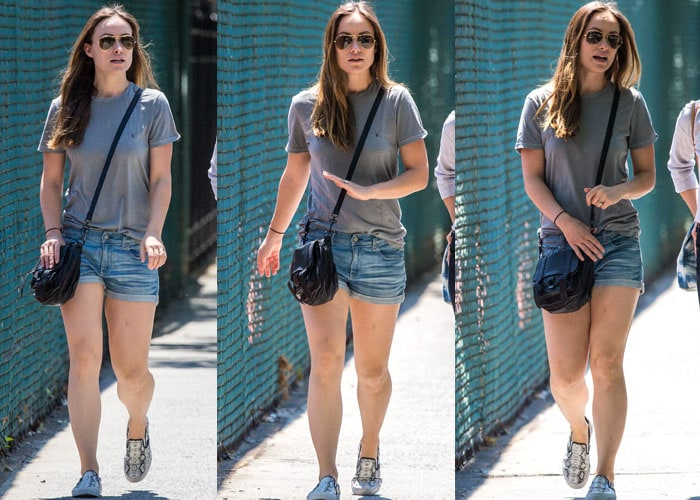 Olivia Wilde rocked comfortable snakeskin leather Vans