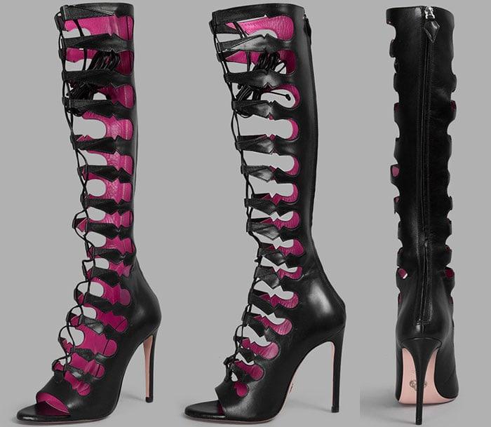 Oscar Tiye Cassandra Knee-High Gladiator Boot Sandals