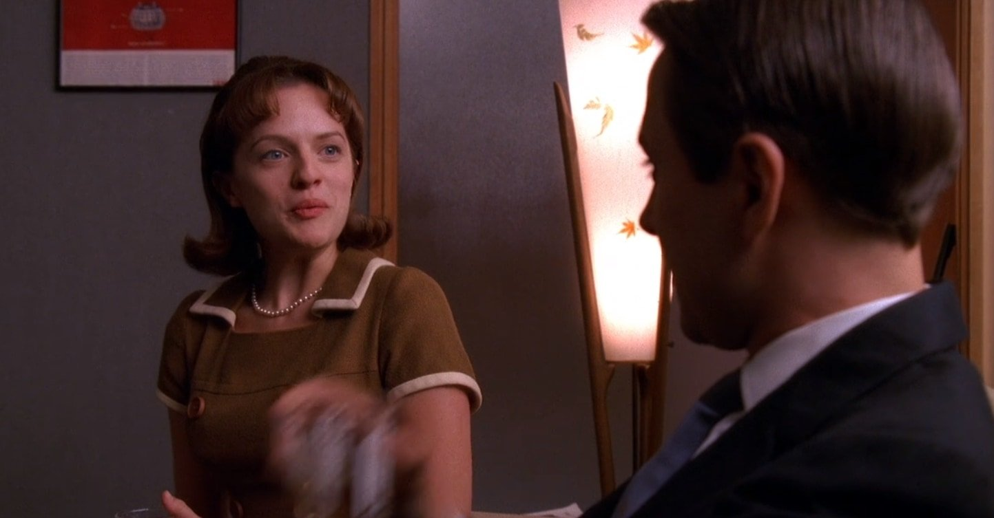 Peggy Olson informs Pete Campbell that he fathered a child with her in Meditations in an Emergency