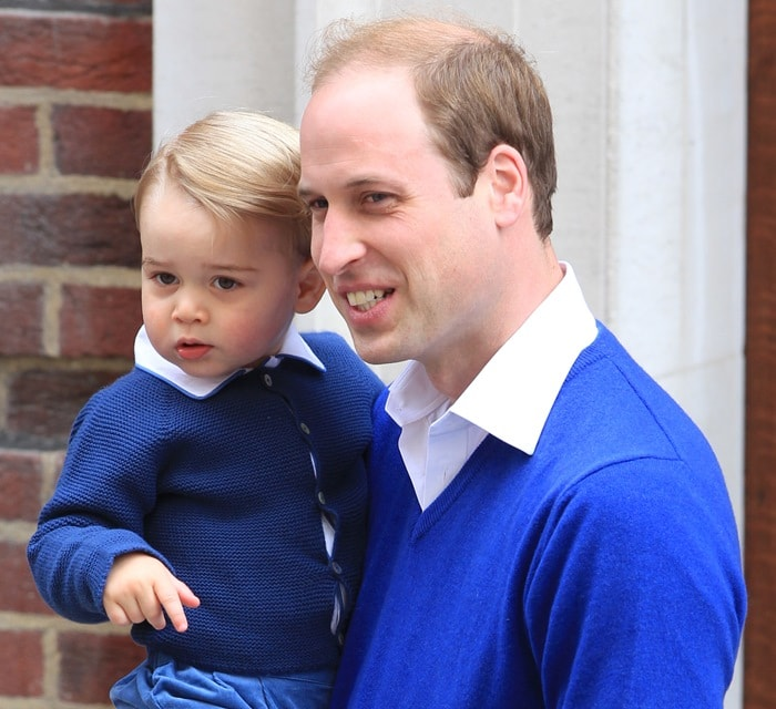 Prince William, Duke of Cambridge, came to meet his little sister