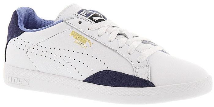 Puma Gray 'Match Lo - Basic Sport' Leather Sneaker