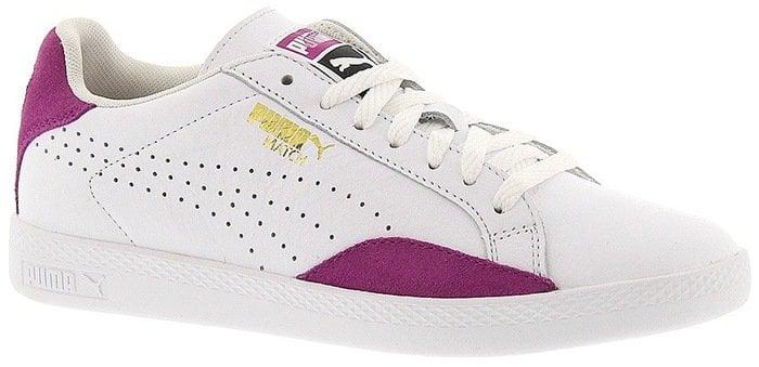Puma White 'Match Lo - Basic Sport' Leather Sneaker