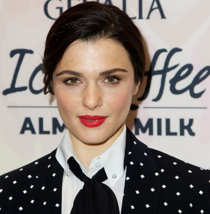 Rachel Weisz was glowing in her polka dot suit