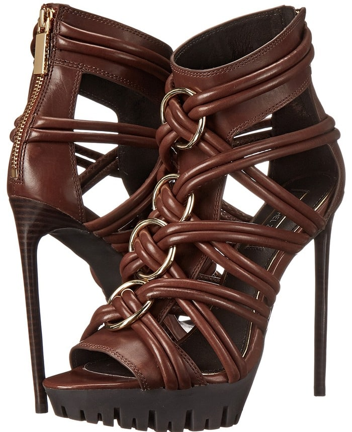 Rachel Zoe Harlin Leather Strappy Sandals in Brown