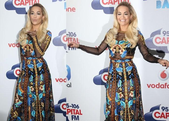 Rita Ora interrupted radio jock Ant Payne during his radio show