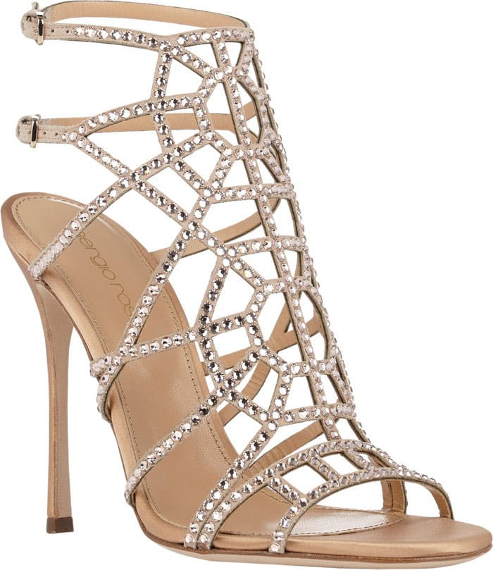 Sergio-Rossi-Embellished-Puzzle-Caged-Sandals-in-Nude