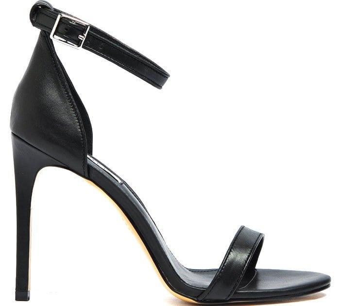 "Siren ""Ivette"" Ankle-Strap Sandals in Black"