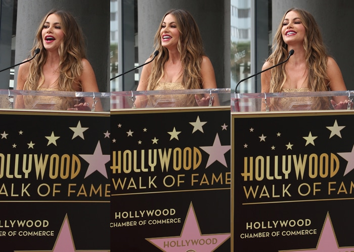 Sofia Vergara is the first Colombian actress to make it to the walk of fame