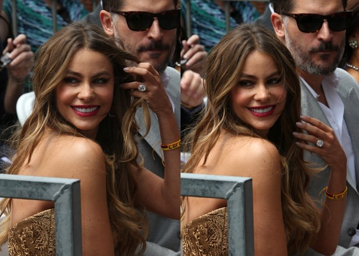 Sofia Vergara kept her hair in her trademark ombré beach waves