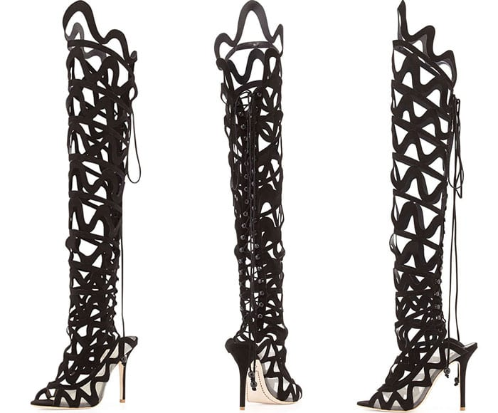 "Sophia Webster ""Mila"" Cutout Over-the-Knee Boots"