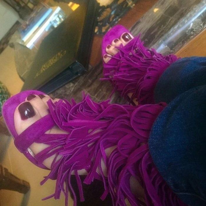 Steve Madden Fringly Purple