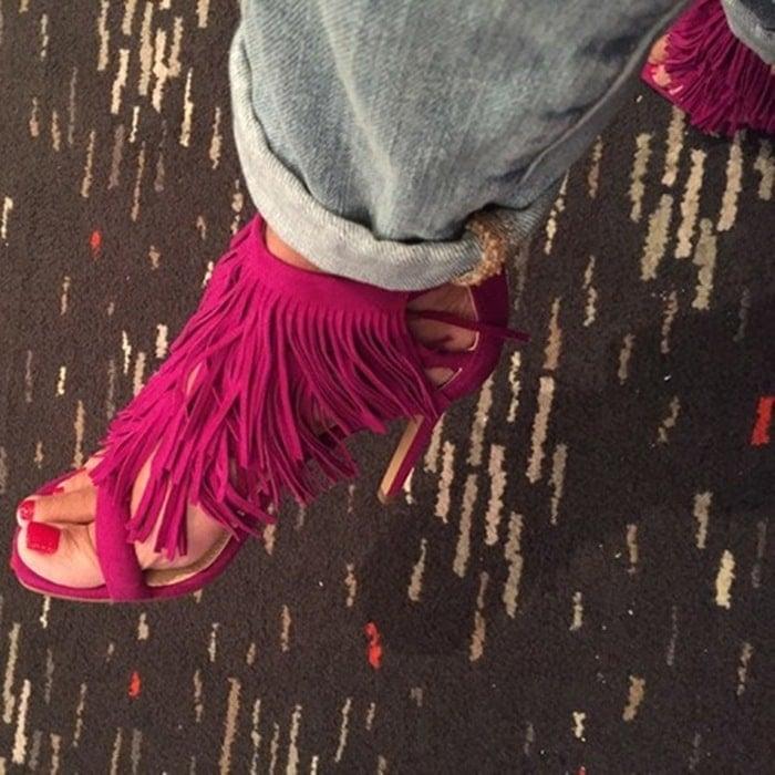 Steve Madden Fringly Purple Sandals