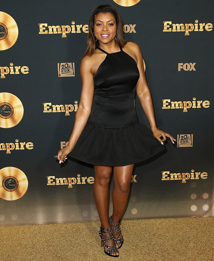 Taraji P. Hensonstyledher hair with morevolume for a fiercer look but kept her makeup feminine with pink shades