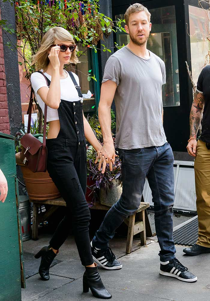 Taylor Swift wore Westward Leaning sunglasses while holding hands with Calvin Harris