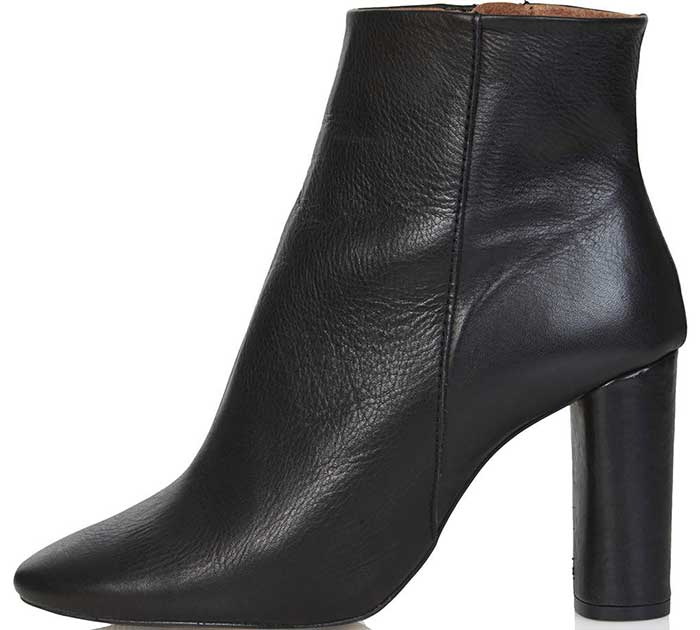 Super sleek and chic, this refined ankle boot is crafted from the softest leather and features an almond toe and wrapped, architectural heel for a richly polished look