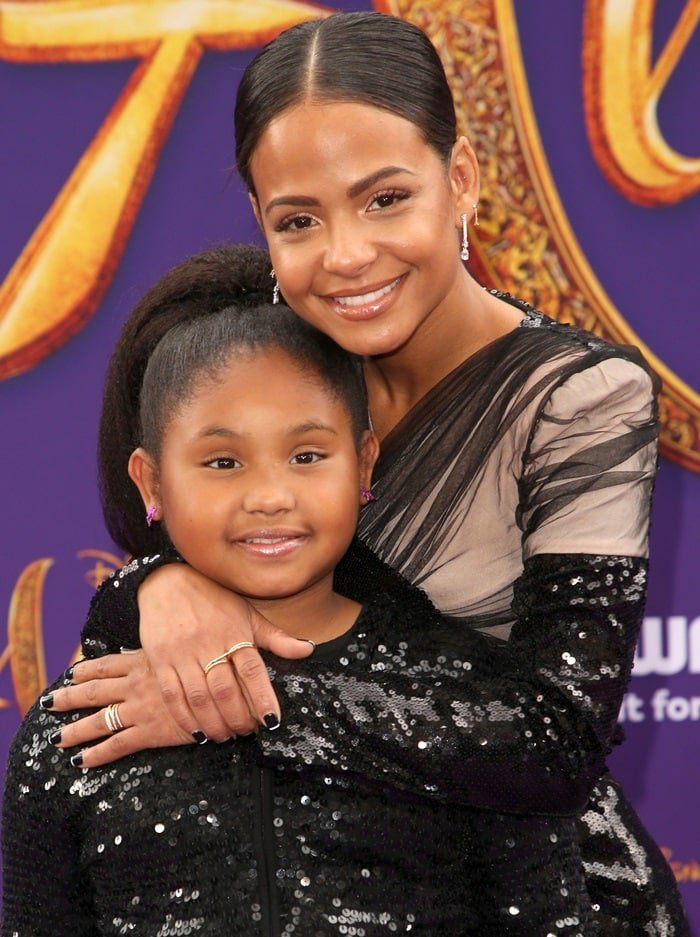 Violet Madison Nash and Christina Milian wore matching outfits