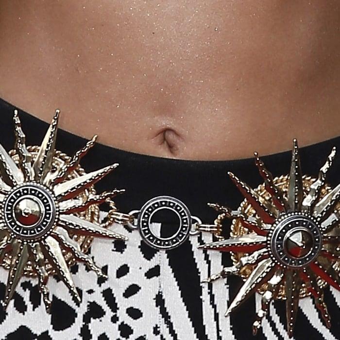Zendaya's innie belly button