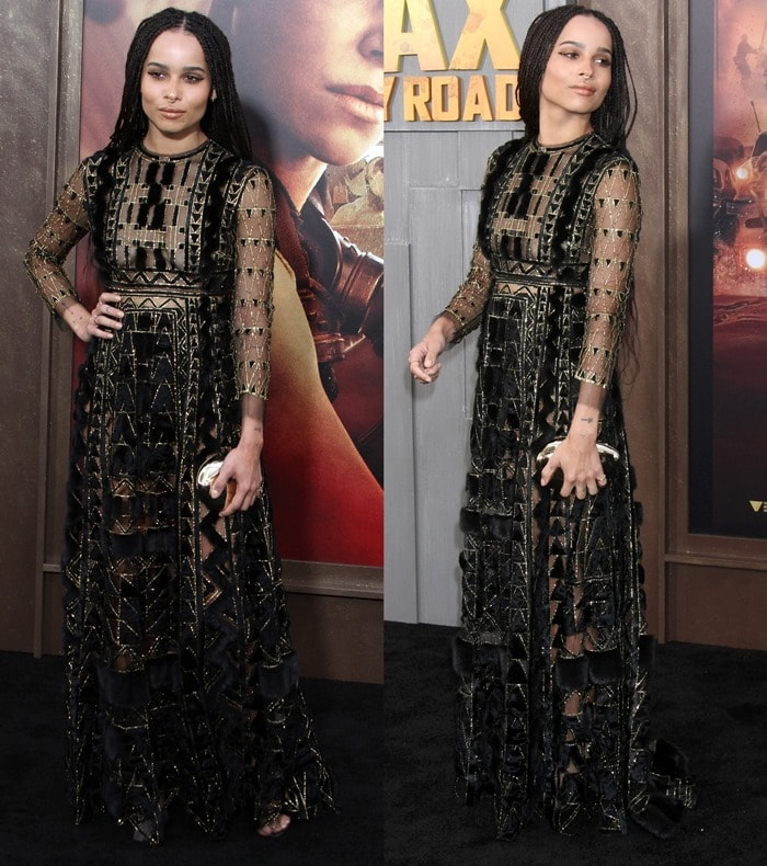 Zoë Isabella Kravitz looked like a Gothic sci-fi warrior queen at the premiere of Mad Max: Fury Road