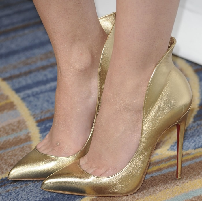 Cher Lloyd's Mea Culpa pumps by Louboutin
